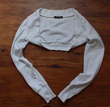 Bílé bavlněné bolerko -anglie-vel.xs, xs