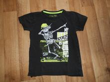 Dětské tričko kostlivec, vel. 146/152, takko,146