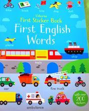Nálepková kniha s prvními anglickými slovíčky,