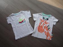2x tričko - žirafa a loď, pepco,92
