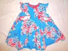 Nádherné tyrkysové květované šaty, mamas & papas,86