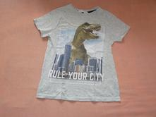 Tričko s dinosaurem, h&m,122