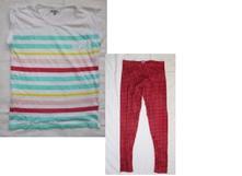 C104 domácí kalhoty + am211 tričko s mašličkou, 164