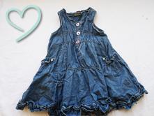 Vychytané modré šaty next v. 80 top stav, next,80