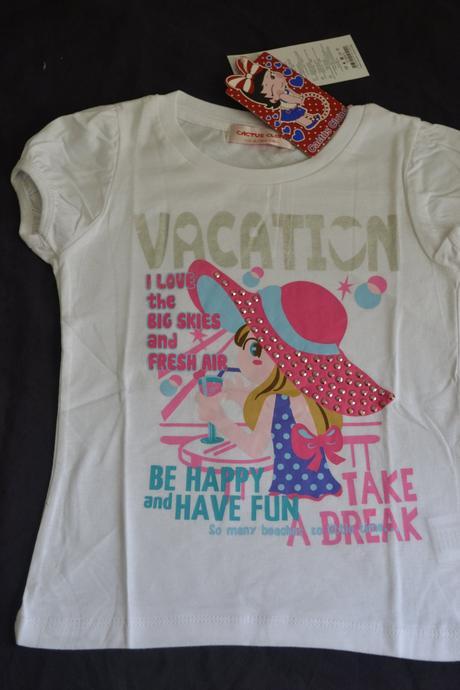 Dívčí bavlněné tričko 104/110, cactus clone,104 / 110