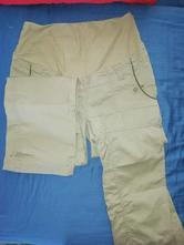 Těhotenské plátěné kalhoty, 46