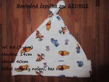 Bavlněná čepička zn. george, george,68
