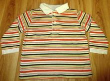 Pruhované triko s límečkem, c&a,68