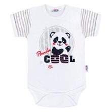 Kojenecké body s krátkým rukávem panda, new baby,62 / 68 / 74 / 80 / 86
