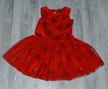 Slavnostní červené šaty - vady, karkulka..., marks & spencer,98