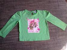 Zelené tričko s pejskem vel 86, f&f,86