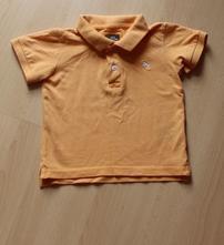 Oranžové tričko s límečkem, h&m,80