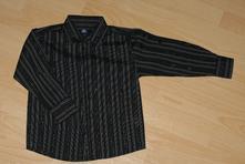 Šedočerná společenská košile se stříbrnou nitkou, 98