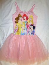 Luxusní šaty princezny s tylovou sukní - bodýčkové, c&a,134 / 140