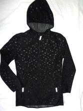 Luxusní černý hvězdičkový soft - shell kabát, 152