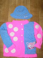 Kočičkový svetr + klobouček 80/86 , 80
