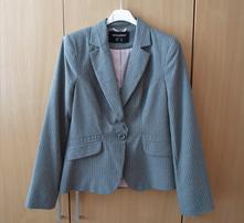 Elegantní dámské šedé růžové sako sáčko, atmosphere,m