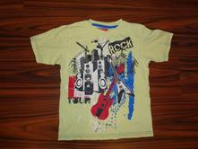 Krásné svítivé žlutozelené tričko - rock, tu,122