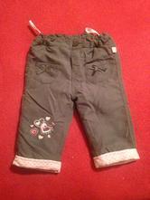 Dívčí zateplené kalhoty srdíčka, okay,68