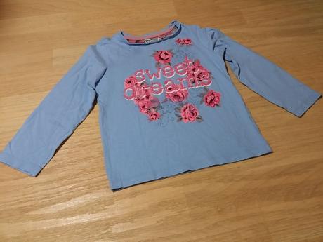 Tričko s dl. modré růžové květy sweet dreams, tu,110