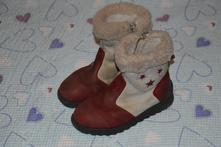 30 31 kožené zimní boty kozačky, essi,31