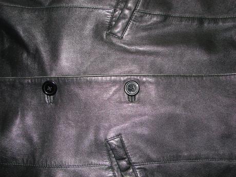 Dámská černá kožená bunda, 40