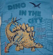 Bavlněné tričko matalan s dinosaurem , matalan,80