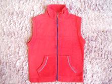 Červená fleecová vesta, vel. s/m, s
