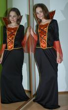 Karnevalové dlouhé šaty zlá královna i čarodějnice,