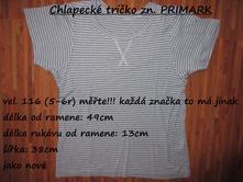 Chlapecké tričko zn. primark, primark,116