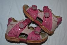 Kožené dívčí sandálky, bubble gummers,23