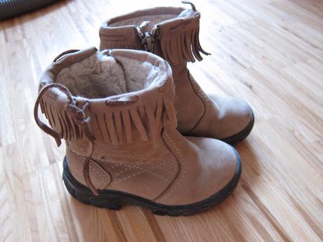 Dětské kožené boty vel. 25, 25