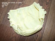 Kalhotky pod šatičky (na plínku) 70-86, 74