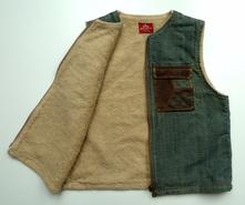 Zateplená riflová vesta vel. 122-128, 122
