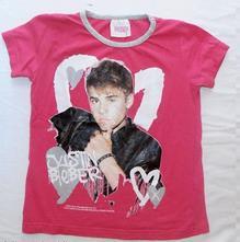 23.růžové tričko 5-6 let bieber, 116