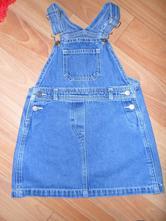 Riflová sukně s laclem, george,98