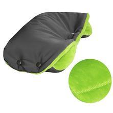 Emitex rukávník softshell velvet tmavě šedý/zelený, emitex