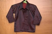 Vínová lesklá košile, vel. 86/92, 86