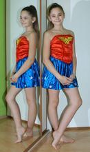 Karnevalové šaty wonder woman,