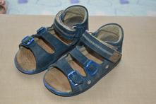 Zdravotní kožené sandálky, modré, essi,25