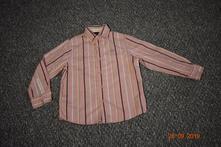 Chlapecká růžová proužkovaná košile next, vel. 122, next,122