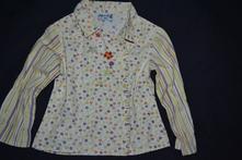 Plátěná bavlněná dívčí košile-halenka, dpam (du pareil au meme),110
