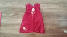 Manžestrové šaty s kytičkou, topolino,104