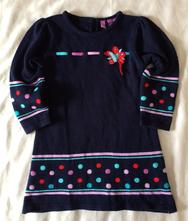Vel. 98 modré zimní šaty, 98