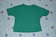 Zelené bavlněné tričko, kr. rukáv, 104