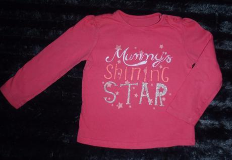 Růžové tričko vel. 92 f&f, f&f,92