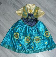 Karnevalové saténové šaty frozen anna,