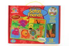 Pěnové puzzle v krabici safari (28 dílků),