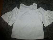 Bílé tričko s průstřihy na rameno, lindex,128