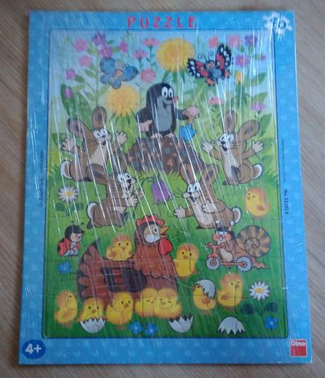 E163 - puzzle krtek 40 modré,
